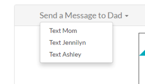 Text Siblings (users in the same group)